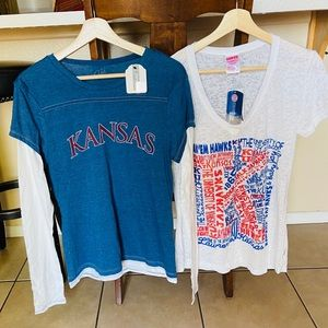 Tops - 2 BRAND NEW Kansas shirts!!!